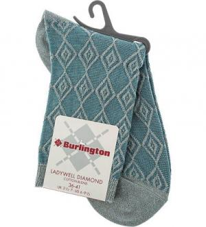 Бирюзовые носки из вискозы Burlington. Цвет: полоска