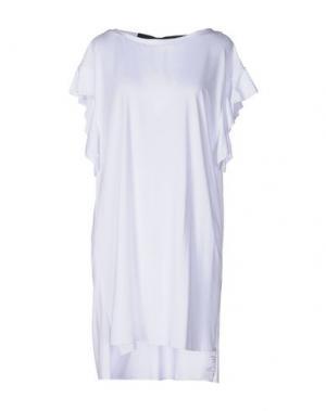 Короткое платье OTTOD'AME. Цвет: белый