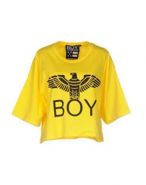 Футболка BOY LONDON. Цвет: желтый
