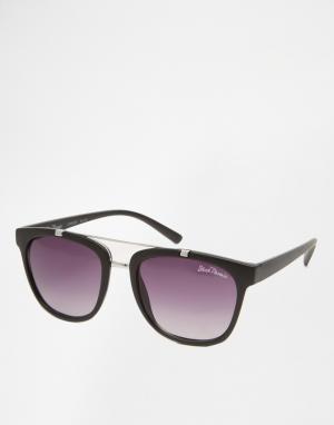 Black Phoenix Квадратные солнцезащитные очки черного цвета. Цвет: черный