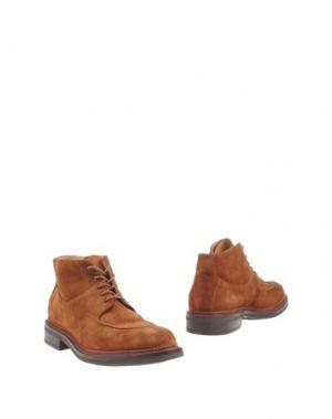 Полусапоги и высокие ботинки BOTTI. Цвет: оранжевый