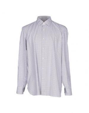 Pубашка LUIGI BORRELLI NAPOLI. Цвет: синий