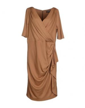 Платье до колена IVAN MONTESI. Цвет: верблюжий