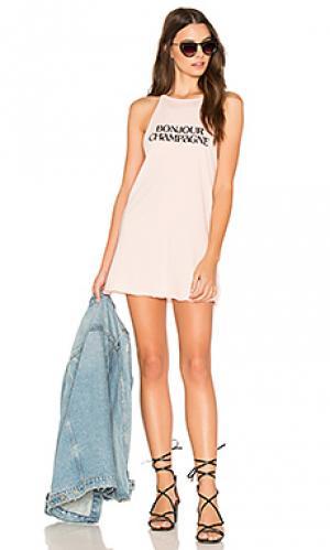 Платье-майка bonjour champagne The Laundry Room. Цвет: розовый