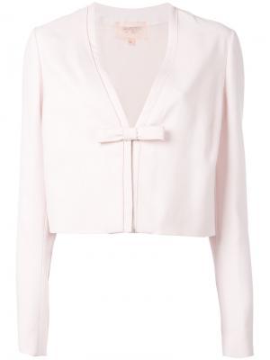 Укороченный пиджак с бантом Giambattista Valli. Цвет: розовый и фиолетовый