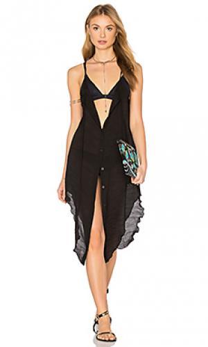 Платье-накидка pearl Salt Swimwear. Цвет: черный