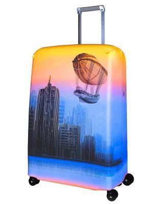 Чехол для чемодана Zeppeline M/L Coverway. Цвет: оранжевый