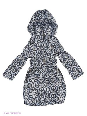 Пальто для девочки демисезонное Rusland. Цвет: антрацитовый, серый, темно-серый