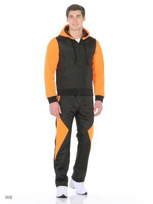 Спортивный костюм (утепленный) FORLIFE. Цвет: черный, оранжевый