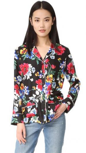 Блуза Annabelle Piamita. Цвет: черный/цветочный рисунок