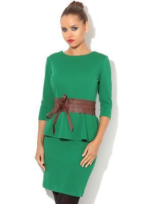 Платье TuttoBene. Цвет: зеленый