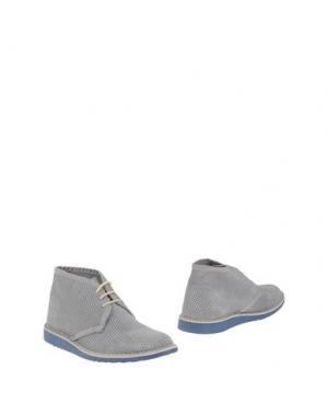 Полусапоги и высокие ботинки BRAWN'S. Цвет: серый