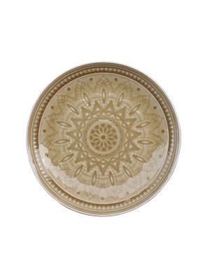 Набор тарелок десертных  6 шт TONGO. Цвет: золотистый