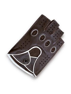 Мужские перчатки ESMEE. Цвет: коричневый