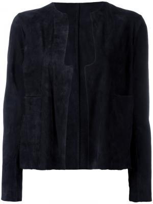 Замшевая куртка Salvatore Santoro. Цвет: синий