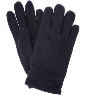 Утепленные перчатки из шерсти Gant. Цвет: синий