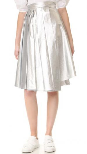 Асимметричная юбка с принтом A.W.A.K.E.. Цвет: голубой