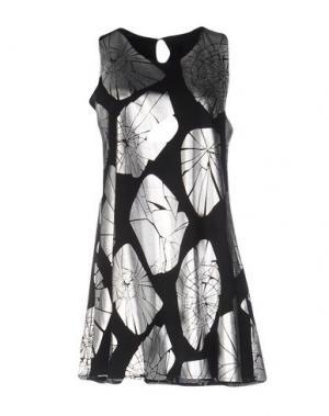 Короткое платье MALPH. Цвет: черный