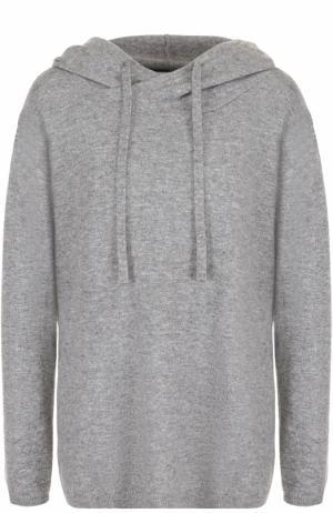 Кашемировый свитер с капюшоном Allude. Цвет: серый