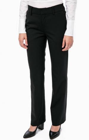 Черные брюки прямого кроя в классическом стиле DRYKORN. Цвет: черный
