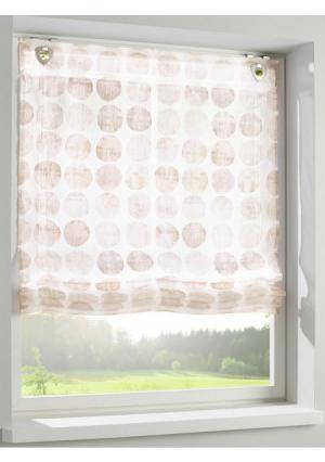 Римская штора Heine Home. Цвет: телесный
