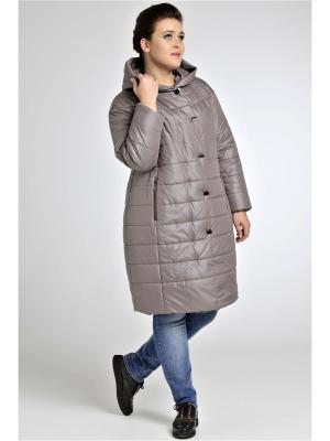 Пальто Modress. Цвет: бежевый, коричневый