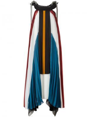 Длинное плиссированное платье Chloé. Цвет: многоцветный