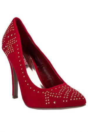 Туфли JUSTFAB. Цвет: красный