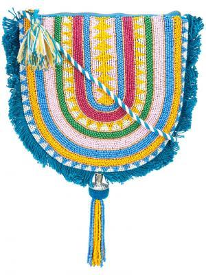 Клатч в полоску Figue. Цвет: синий