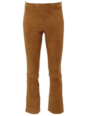 Укороченные брюки Maxime Stouls. Цвет: коричневый