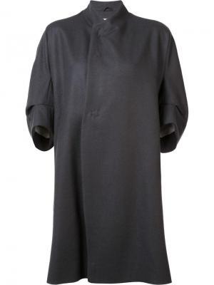 Пальто с фигурным вырезом Toogood. Цвет: серый