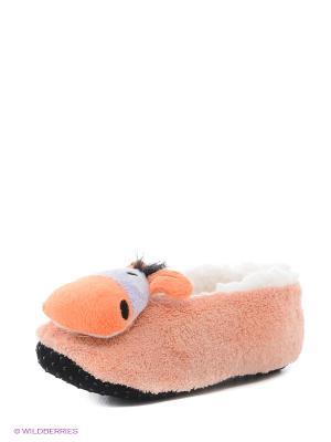 Носки-тапочки HOBBY LINE. Цвет: персиковый