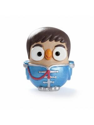 Керамическая статуэтка сова Пол МакКартни Goofi. Цвет: голубой