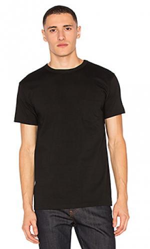 Тяжелые футболки с карманом набор 2 шт 3sixteen. Цвет: черный
