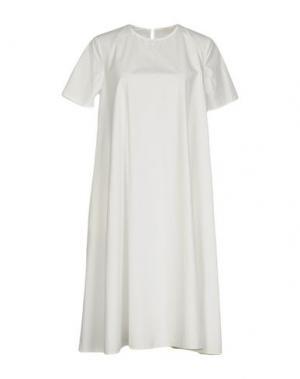 Платье до колена A.B APUNTOB. Цвет: белый