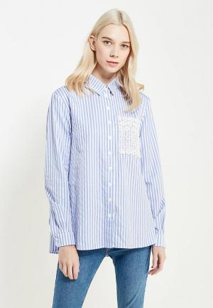 Рубашка Self Made. Цвет: голубой