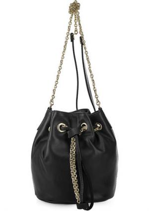 Маленькая кожаная сумка-торба Gianni Chiarini. Цвет: черный