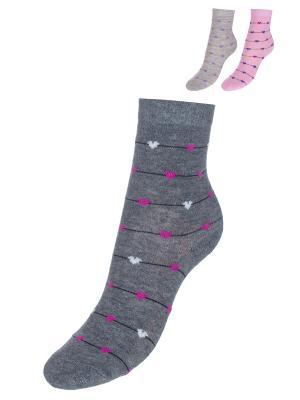 Носки BAYKAR. Цвет: серый, розовый, серый меланж