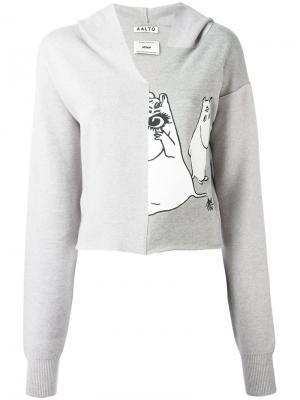 Moomin print hoodie Aalto. Цвет: серый
