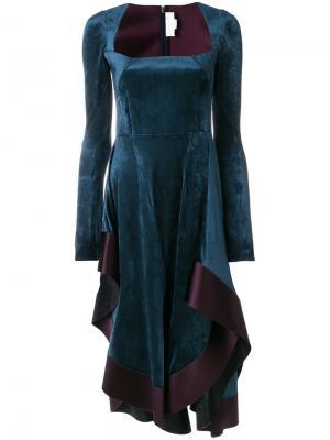 Платье в стиле фламенко Esteban Cortazar. Цвет: синий