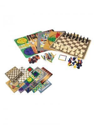 Набор игр  100 В 1 Classic. Цвет: черный, темно-синий, зеленый, бежевый, желтый, белый