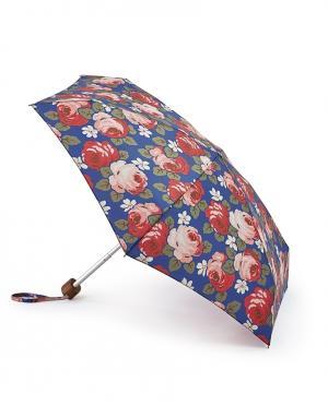 Зонт механический Розы  by Fulton Cath Kidston. Цвет: синий