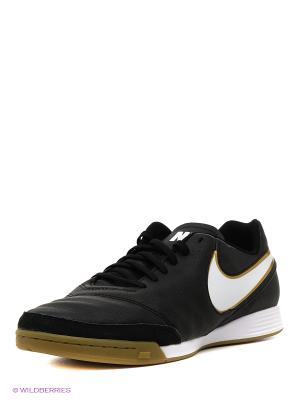 Кроссовки для зала TIEMPO GENIO II LEATHER IC Nike. Цвет: черный