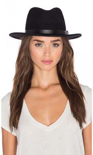 Шляпа messer Brixton. Цвет: черный