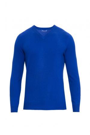Кашемировый джемпер 160341 Blue Sky Cashmere. Цвет: синий