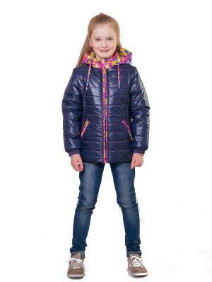 Куртка SAIMA. Цвет: синий, малиновый
