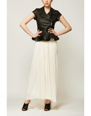 Шерстяная юбка Rick Owens. Цвет: бежевый