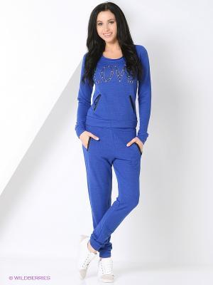 Спортивный костюм TOPSANDTOPS. Цвет: синий