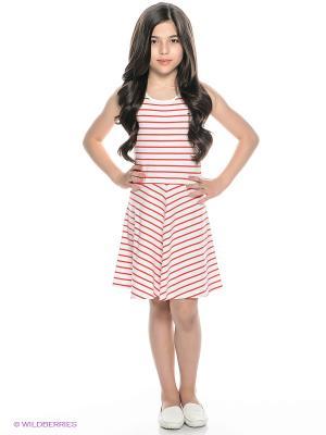 Платье Tommy Hilfiger. Цвет: красный, белый