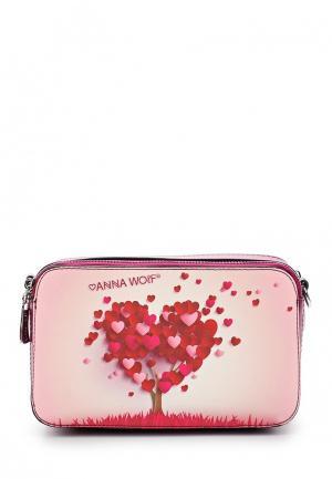 Сумка Anna Wolf. Цвет: розовый